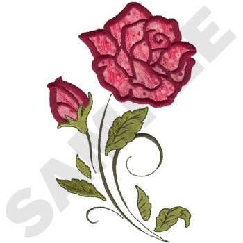 Plants Embroidery Design Rose Applique From Dakota