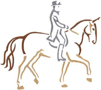 Design Dressage Dressage Outline embroidery