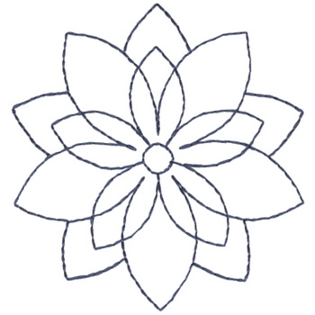 Poinsettia Outline outlines embroidery design: poinsettia oultine from ...