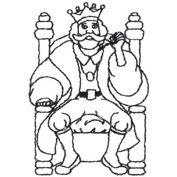 Outlines embroidery design old king cole outline from for Old king cole coloring page