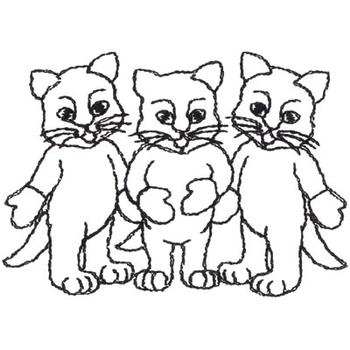 Three Kittens Coloring Pages Three little kittens outline Mitten ...