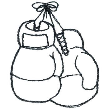 coloring pages of boxing gloves - photo#17