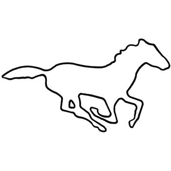 Animals embroidery design mustang outline from dakota collectibles - Ford mustang logo outline ...