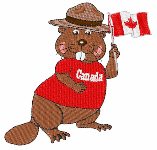 International Embroidery Design Canadian Beaver From