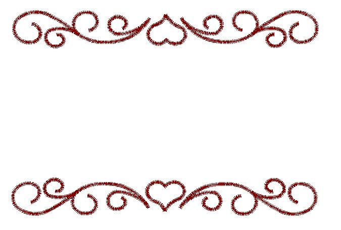 Embellishments Embroidery Design Heart Border From