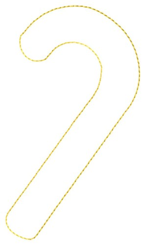 Outlines embroidery design candy cane outline from grand slam designs
