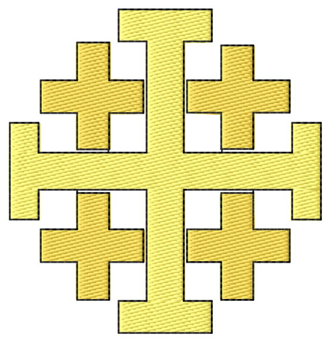 Religious Embroidery Design Jerusalem Cross From Grand