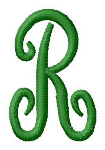 R Alphabet Design Laurel Monogram Alphabet R