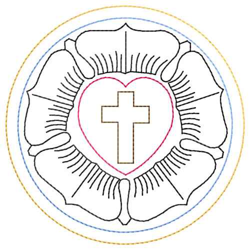 Lutheran Rose Vector Lutheran rose embroidery design. roll on to zoom ...