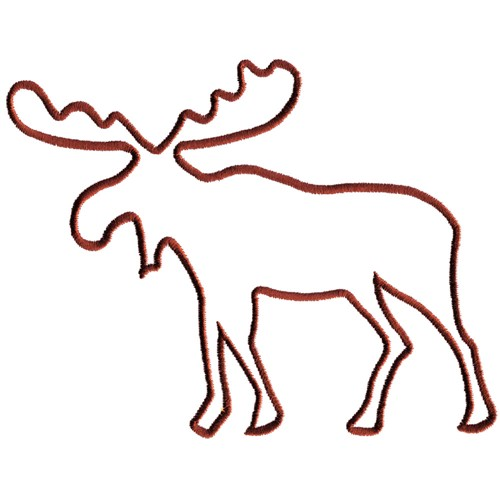 Animals Embroidery Design Moose Outline From Grand Slam