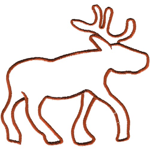 Animals Embroidery Design: Reindeer Outline from Grand Slam Designs