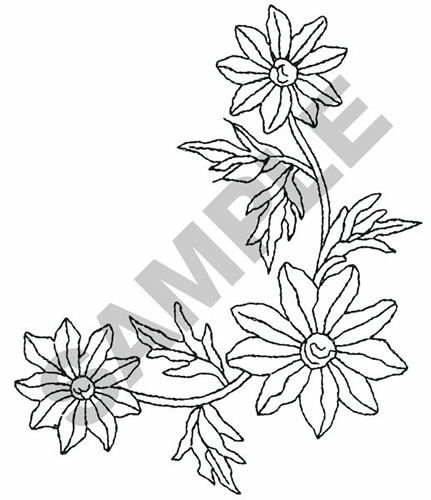 Flower Corner Border Design Flower Corner Border
