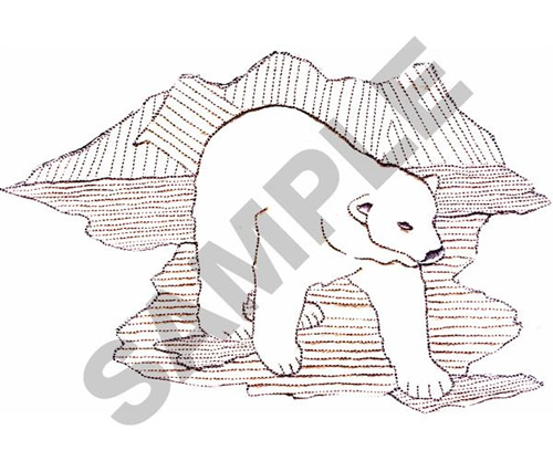 Animals Embroidery Design: POLAR BEAR OUTLINE from Great Notions