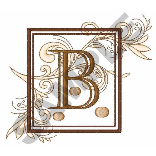 Fancy Letter b Designs Fancy Square Letter b