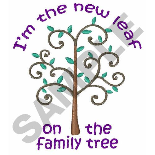 trees embroidery design new leaf on family tree from