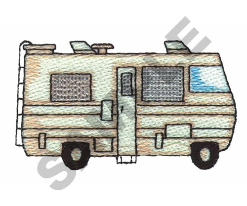 Excellent RV Camper Embroidery Applique  Instant Download  For Embroidery