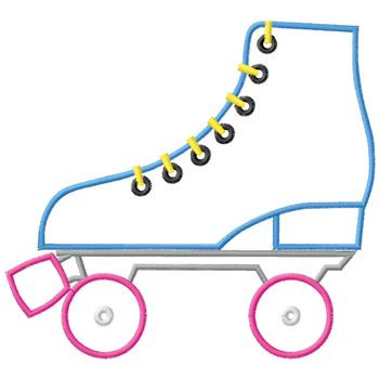 Roller Skate Outline Roller skate embroidery design