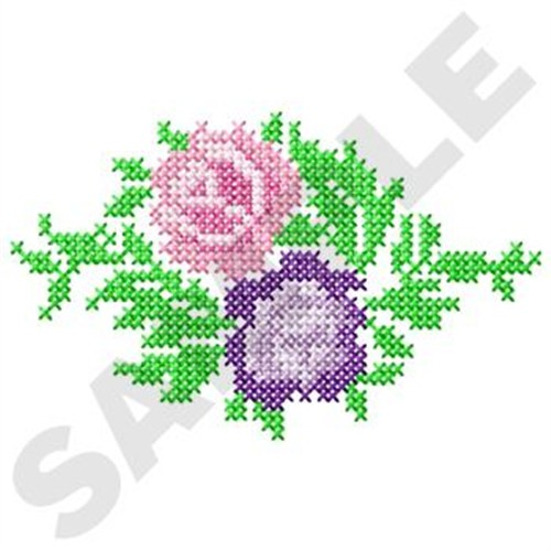 Plants Embroidery Design Two Roses Cross Stitch From Gunold
