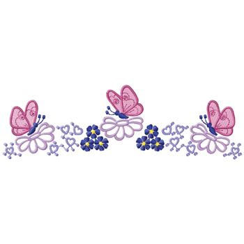 Butterfly border designs for paper