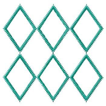 Embellishments Embroidery Design Diamond Shape Design