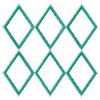 Embellishments Embroidery Design Diamond Shape Design