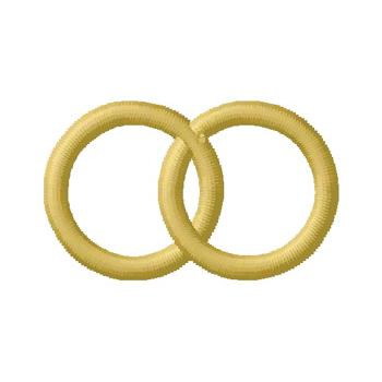 Special_Occasions Embroidery Design: Wedding Rings from Gunold