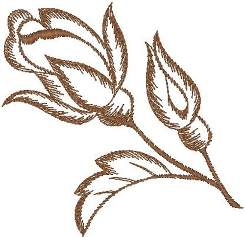 Outlines embroidery design rose sketch from hirsch