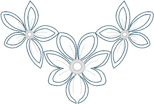 Floral embroidery design flowers outline from hirsch