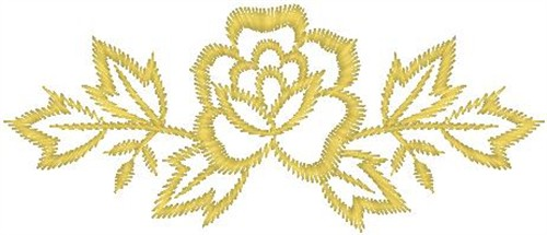Outlines hirsch embroidery design yellow rose outline