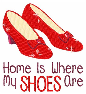Ruby Slippers Vector Medium embroidery designRuby Slippers Vector