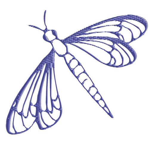 Outlines(King Graphics) Embroidery Design: Dragonfly ...
