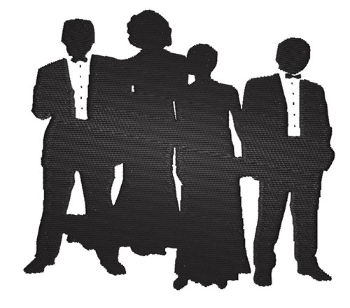 Men Embroidery Design: Formalwear Silhouettes from King Graphics