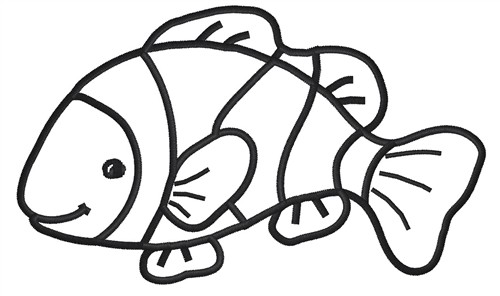 Fish outline vatozozdevelopment fish outline clown fish outline template maxwellsz
