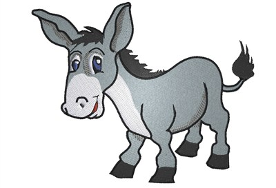 Animals Embroidery Design Cartoon Donkey From King Graphics