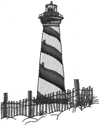 Scenes Embroidery Design Lighthouse From Machine