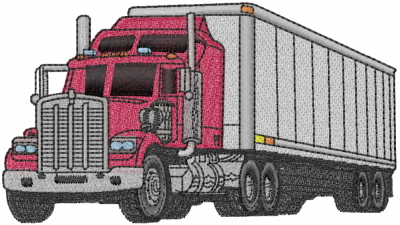 Transportation Embroidery Design Truck From Machine