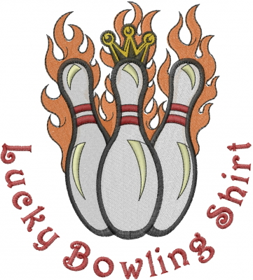 Ten Pin Bowling Embroidery Designs