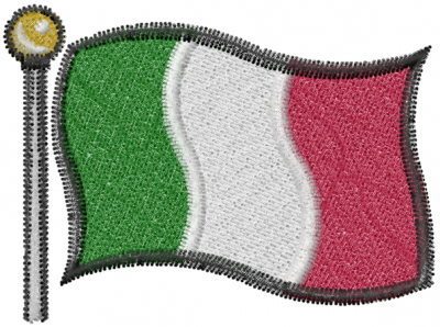 Italian Flag Embroidery Designs