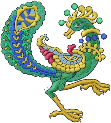 Animals Embroidery Design Peacock_ From Machine