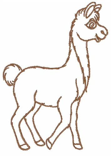 Llama Outline Llama outline embroidery