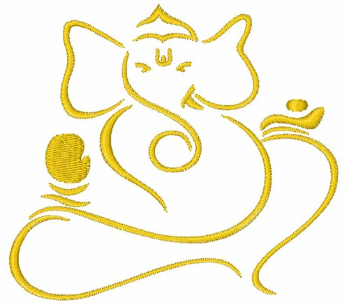 Ganesh Outline Animals embroidery design: x3cbx3eganesh outlinex3c ...