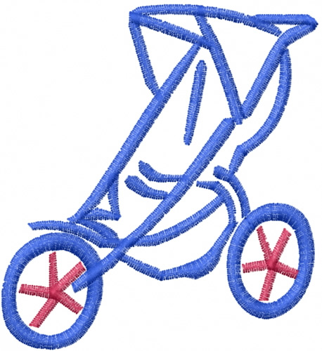 Outlines embroidery design baby stroller from windmill designs