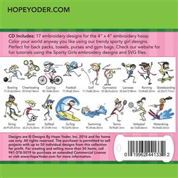 Sporty Girls Embroidery Designs CD