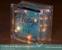 Chalkboard Sketch Embroidery Designs CD
