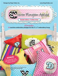 Chevron Monogram Applique Embroidery Designs CD