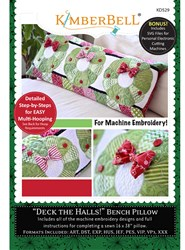 Deck The Halls Bench Pillow Designs (Machine Embroidery)