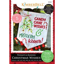 Pennants & Banners Christmas Wishes Embriodery Designs CD