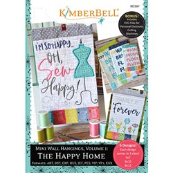 Mini Wall Hangings Happy Home Embroidery CD Vol. 1 Designs CD