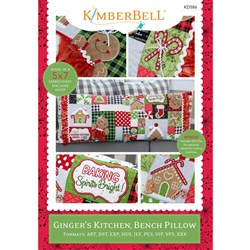 Ginger's Kitchen, Bench Pillow Designs Machine Embroidery Version