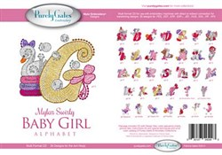 Mylar Swirly - Baby Girl Alphabet
